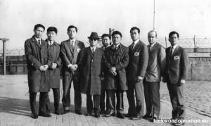 National Taekwon-Do Goodwillteam 1965 mit George Brückner und koreanischen Studenten